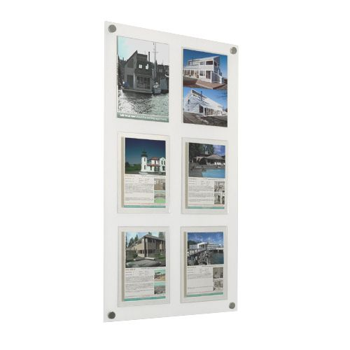Estate Agent Displays: Wall panels fitted with detail holders from Shop Display Systems