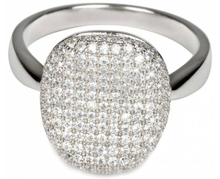 Pattic Stříbrný prsten s krystaly ITS3365001