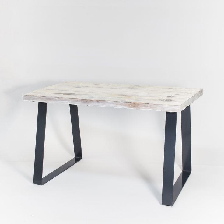 """Table """"OPEN DECK"""" perfectly emphasizes the industrial climate of your kitchen or a dining room and its minimalist design will satisfy even the most demanding customers. This furniture is created with great commitment and attention to preserve the original appearance of reclaimed wood."""