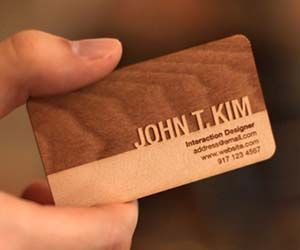 Stand out from the rest of the paper-card-carrying drones in the corporate world by handing out wooden business cards instead. These all-natural business cards display your information in a beautiful wood medium guaranteed to make a lasting impression.