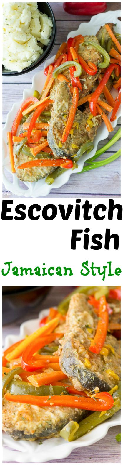 Escovitch Fish - An easy recipe to make Jamaican escovitch fish where the fish is fried and then sauced with vegetables cooked in a spicy vinegar marinade. @HomeMadeZagat