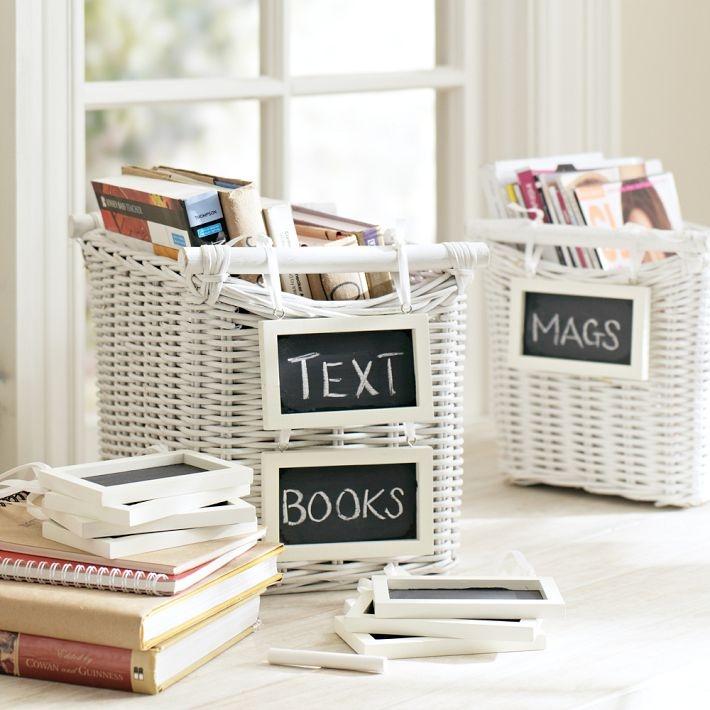 uma maneira de organizar livros e revistas