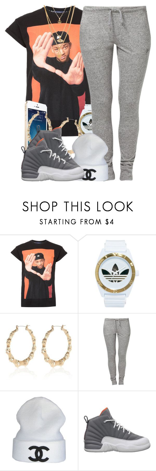 """""""Fresh Prince"""" by oh-aurora ❤ liked on Polyvore featuring Topman, adidas, Lauren Conrad, River Island, NIKE, CC and Retrò"""