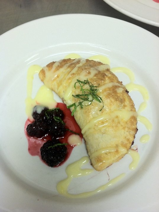Blackberry Turnover, with Masserated Blackberries and Mascarpone-Lemon ...