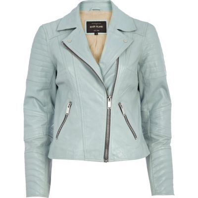 Duck Egg Blue Leather River Island