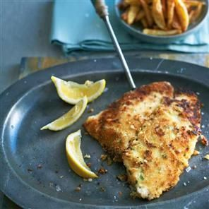 Crispy breadcrumbed lemon sole recipe. This fish recipe is gorgeous served with chips and lemon wedges. Follow the Marine Conservation Society's advice and buy lemon sole only between September and March.