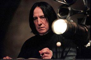 "2004 - Screen-cap from ""Harry Potter and the Prisoner of Azkaban. Alan Rickman as Professor Severus Snape."
