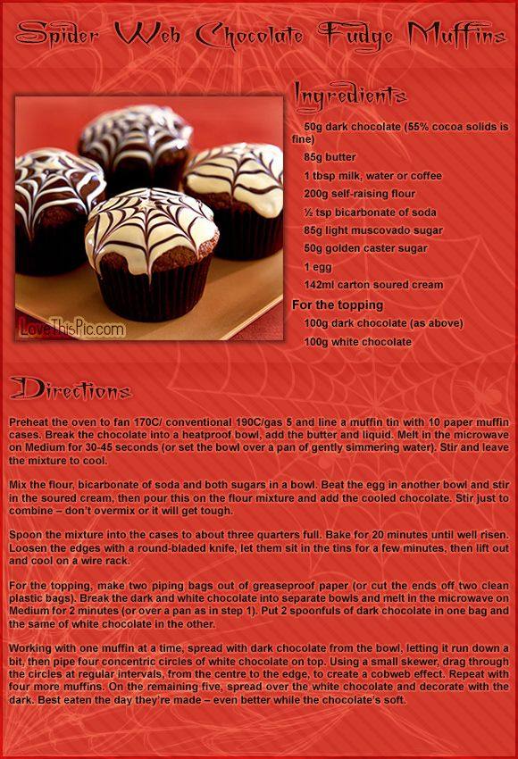 spider web chocolate fudge muffins food spooky halloween recipes snacks desserts halloween recipes halloween recipes halloween - Fast And Easy Halloween Treats