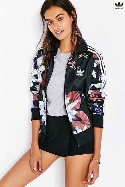 adidas originali lotus impronta traccia giacca urban outfitters, adidas