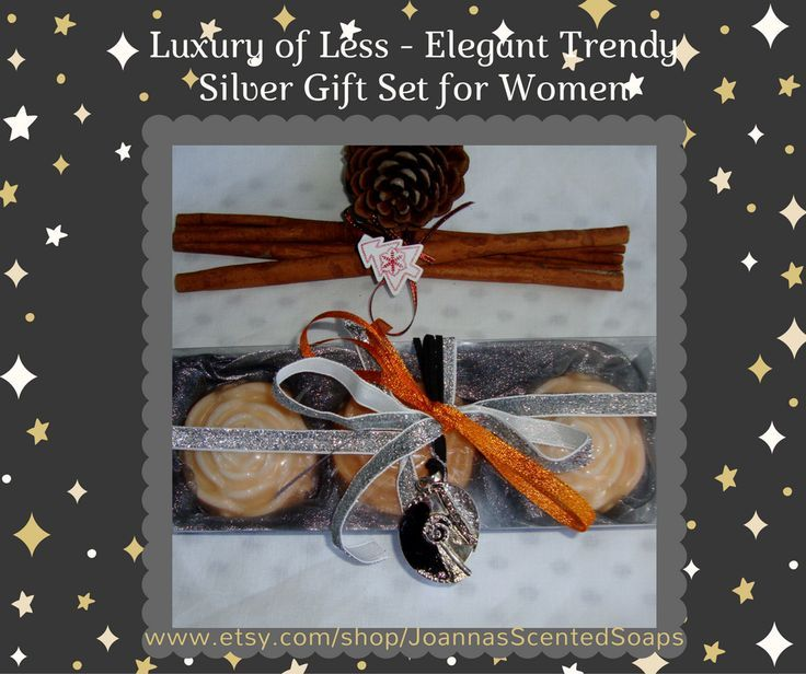 Luxury of Less - a new trend that represents a new generation of luxury goods that are less ostentatious and less flashy, over-designed. This Elegant Trendy Silver Gift Set for Women is a Handmade gift expressing quality and luxury values without being jazzy. With 3 Excellent Quality handmade Glycerin Scented Soaps and a Handmade Jewelry Necklace!!! For a lady with fine tastes !!!