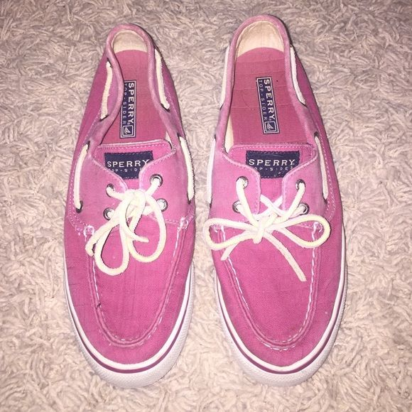 magenta pink sperrys! great condition! magenta/ pink sperrys Sperry Top-Sider Shoes Sneakers