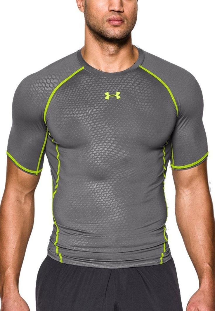 Under armour mens ua heat gear short sleeve compression for Under armour t shirts