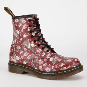 Dr. Martens 1460 Womens Boots Cherry Red Rouge  In Sizes from Tilly's