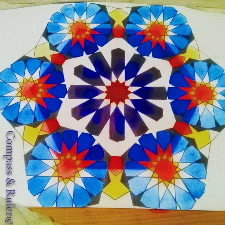 Primary Colours Ombre 12-Point Star and 12-Point Rosettes