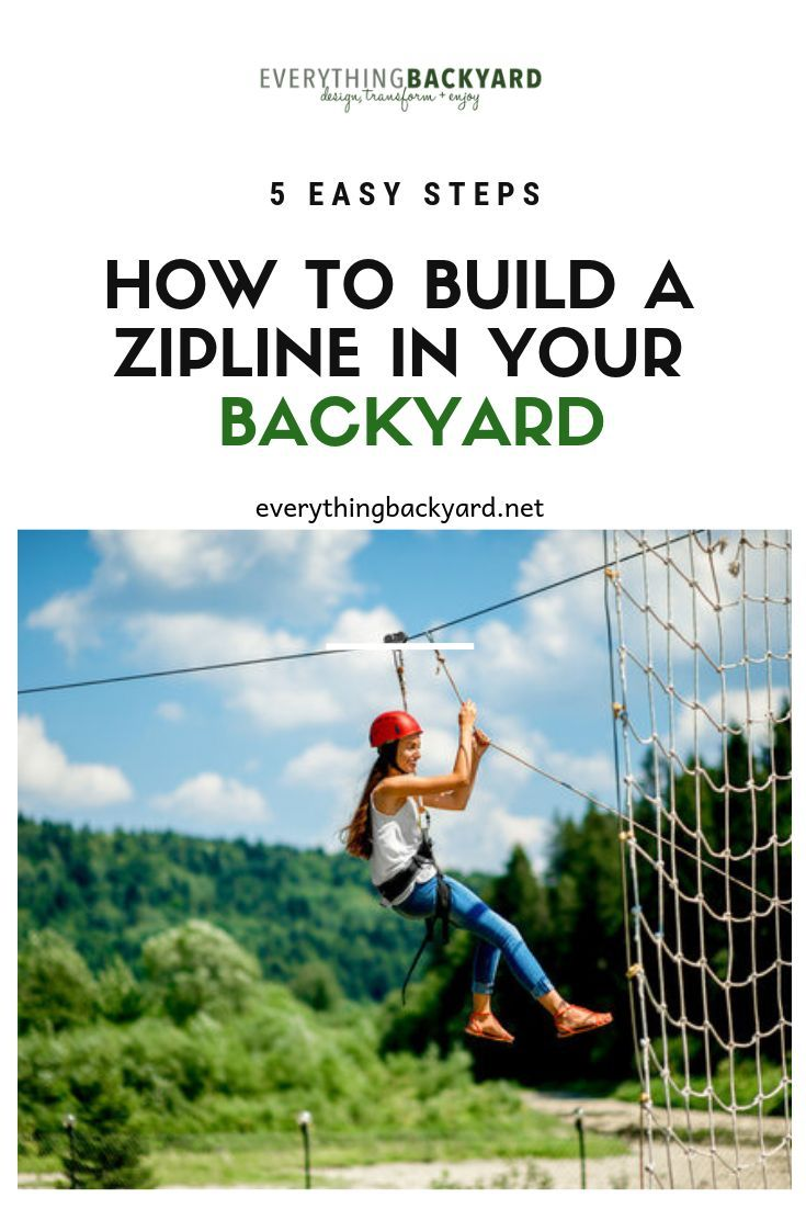 If You Or Your Kids Love Playing On Zip Lines You May Be Interested In Building One In Your Backyard In This Zip Line Backyard Kids Backyard Fun Kids Zipline
