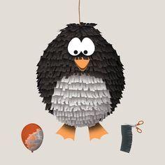 Eine selbst gebastelte Piñata