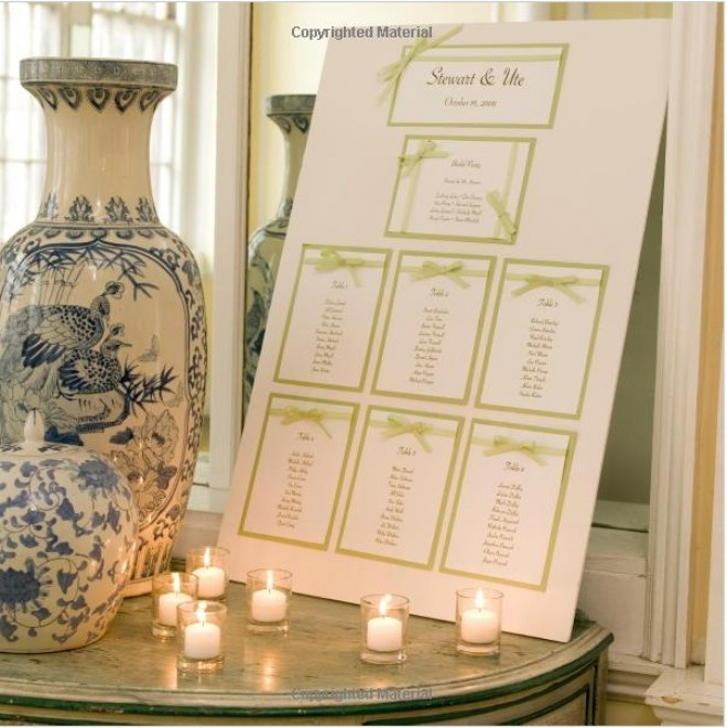 DIY Seating chart with ribbon detail
