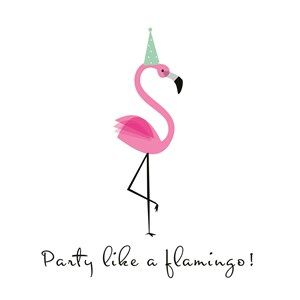 For the best party, party like a flamingo! #Hallmark #HallmarkNL #flamingo #party #quotefulness