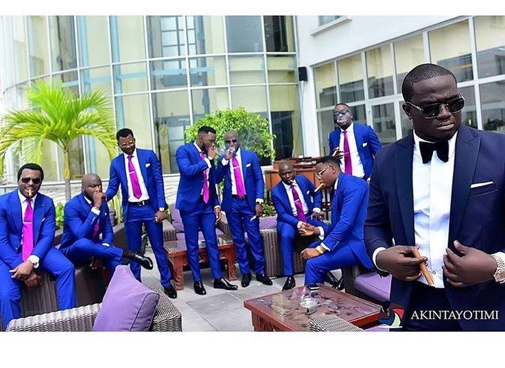 Groom and groomsmen in suits  #WandW2015   📸: Akintayotimi    www.loveweddingsng.com
