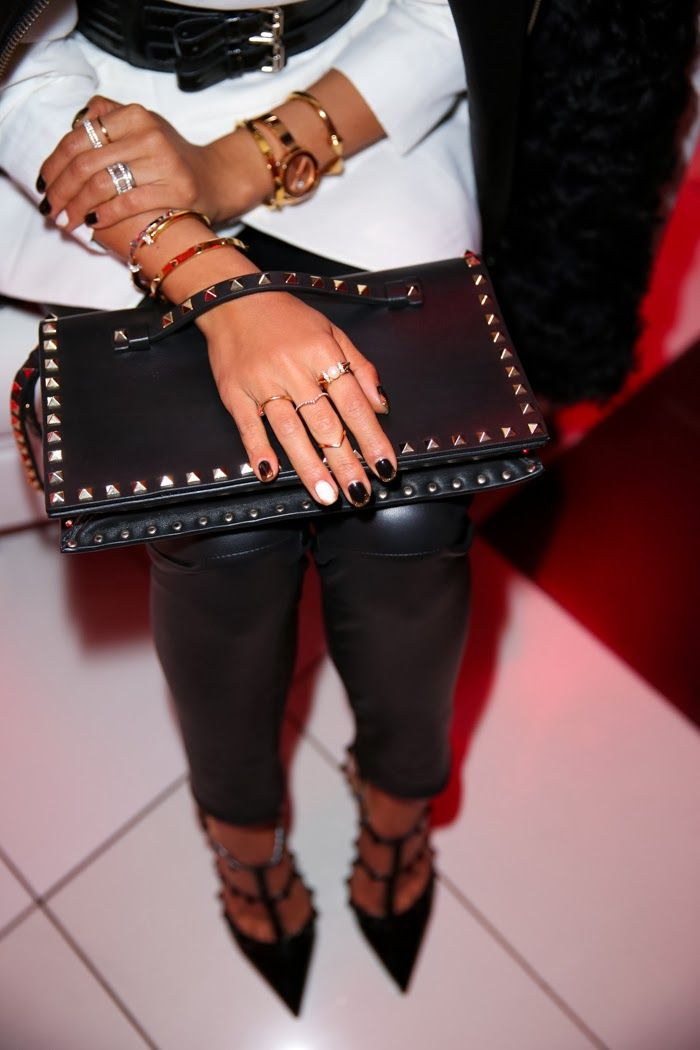 @Valentino #Rockstud clutch & pumps via @Nordstrom ...