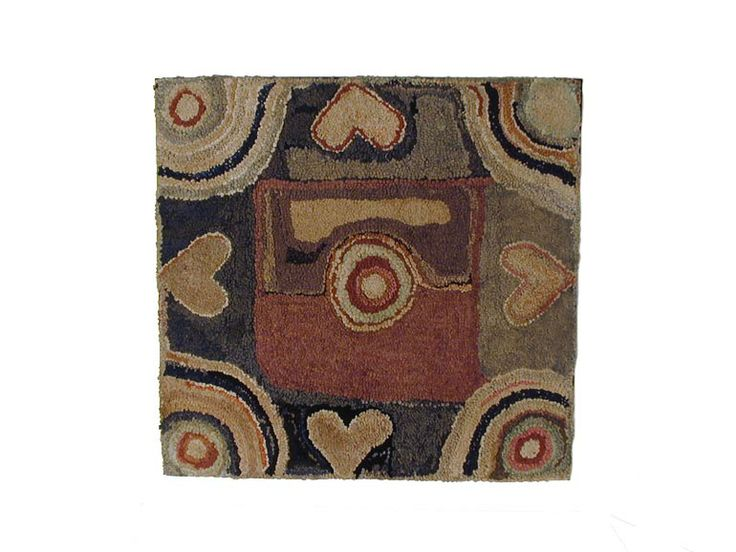 97 best heart hooked rugs images on pinterest | primitive hooked
