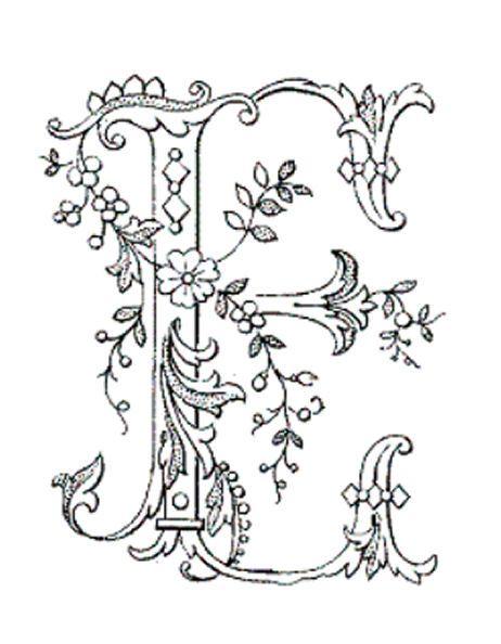 Beautiful Letter E