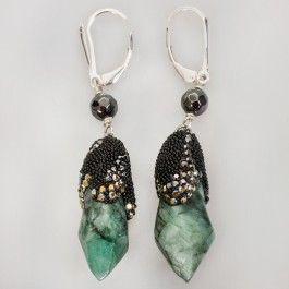 Kira Koktysh Jewelry Emerald Tears Earrings | From Russia | Y-127034 Availability: In stock $169.99