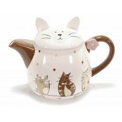 Teiera tè tea in ceramica arredo casa cucina gatti gatto gattini