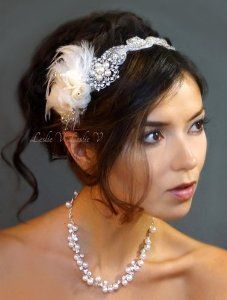 This combination of sparkle and feather is stunning!!!