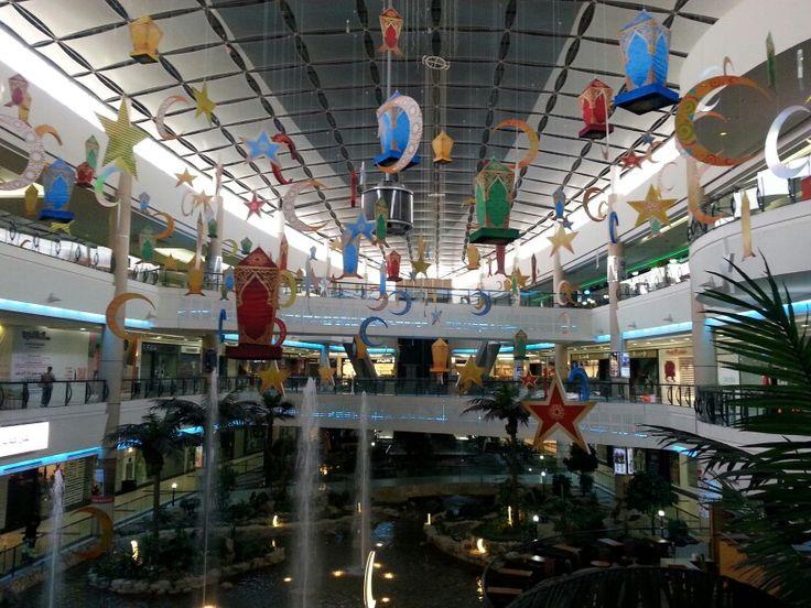 Riyadh Gallery mall decorated for Ramadan