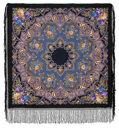 Pavlova Posad - Maya shawl - USA Contact person: Judy Cook. 990 Sandra Lane Bosque Farms, NM, 87068. tel. 505-869-1125. e-mail: nmradio@comcast.net