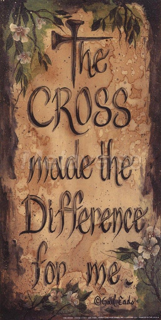 ~ The cross made the difference...~
