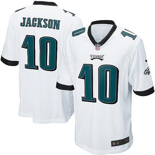 As the official online store of the NFL Philadelphia Eagles, we offer you a large selection of new Youth Nike Philadelphia #10 Eagles DeSean Jackson Elite White Jersey for men's, women's, youth and kids at Official Shop. Visit the official NFL Eagles Store regularly for great discounts, free shipping offers on top Philadelphia Eagles Jersey and the latest fan gear for men, women and kids!$79.99