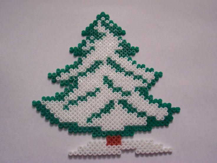 Winter Snow Tree hama perler beads by Shazann