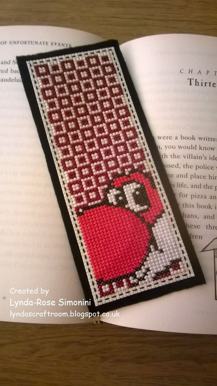 Red Yoshi bookmark available at etsy.com/uk/shop/LyndasCraftRoom