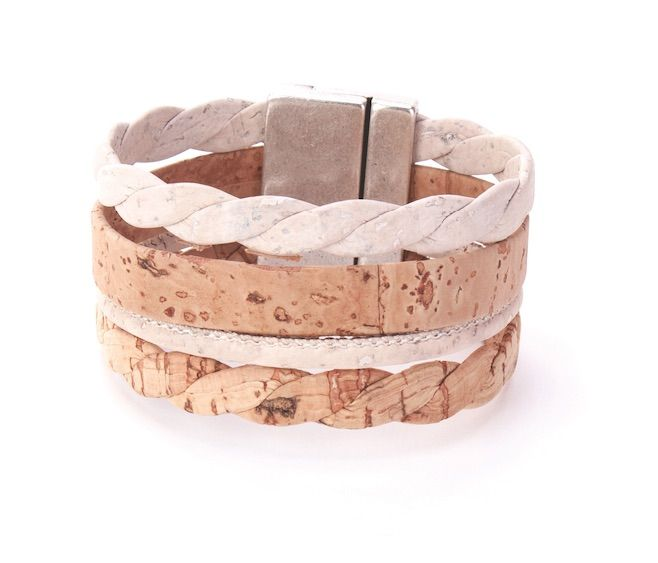 #Bracelet made of silky smooth #cork #leather | 100% #sustainable & #vegan | CHF 36.20 | free delivery & return within Switzerland