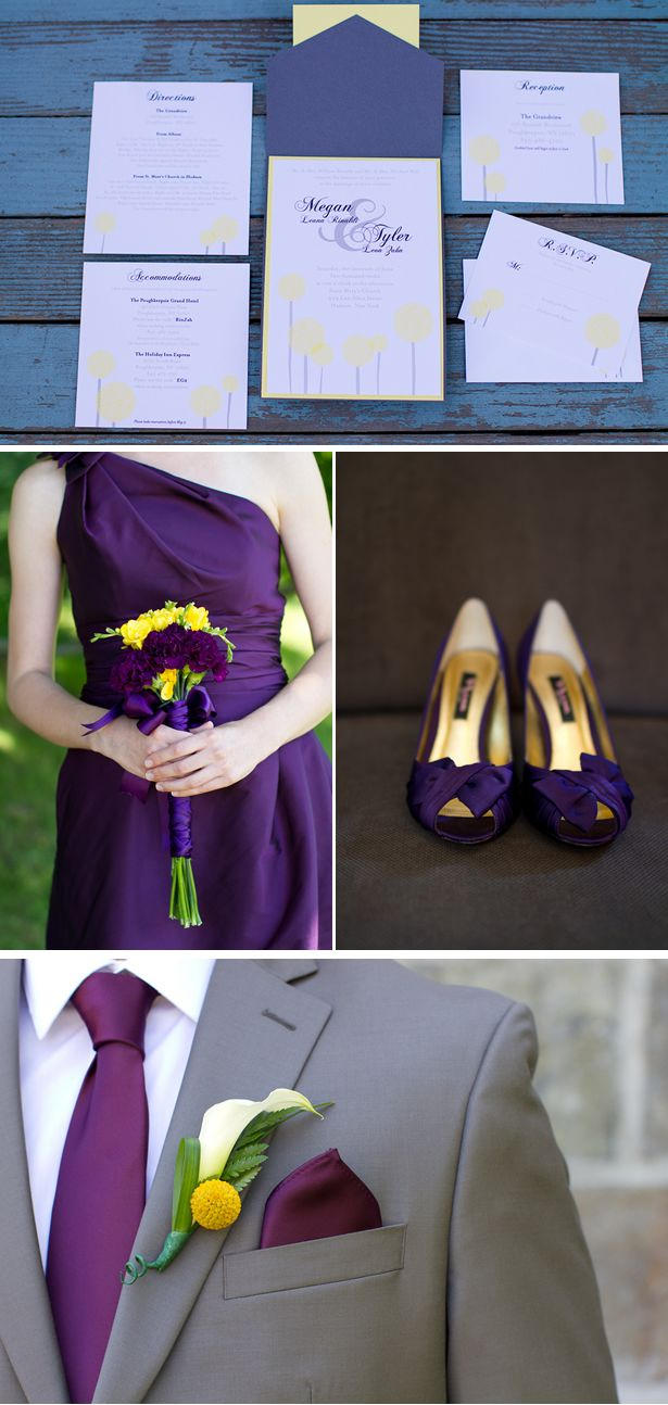 A Purple and Yellow Wedding in New York - WeddingWire: The Blog