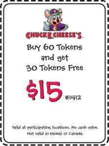 "chucky cheese coupons 2013 | for collecting Chuck E Cheese coupons has to be our ""Current Coupons ..."