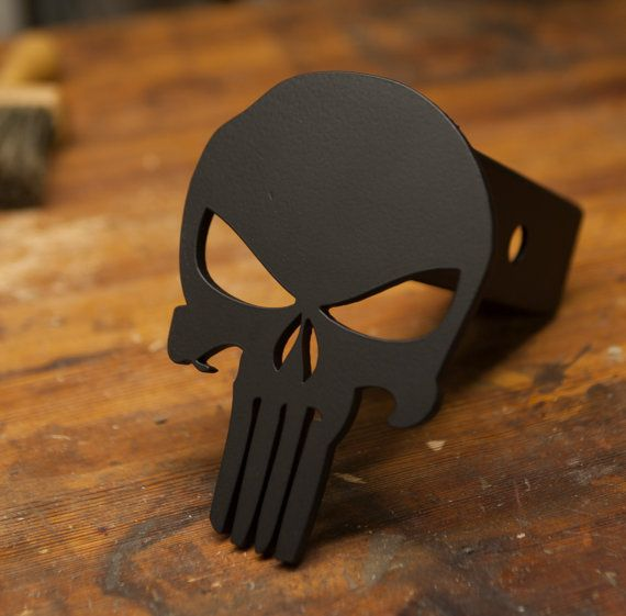 Punisher Trailer Hitch Cover by KempterKustoms on Etsy