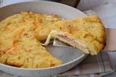 Torta di patate in padella al prosciutto velocissima da fare e super sfiziosa con in suo ripieno filante che vi piacera' da impazzire.