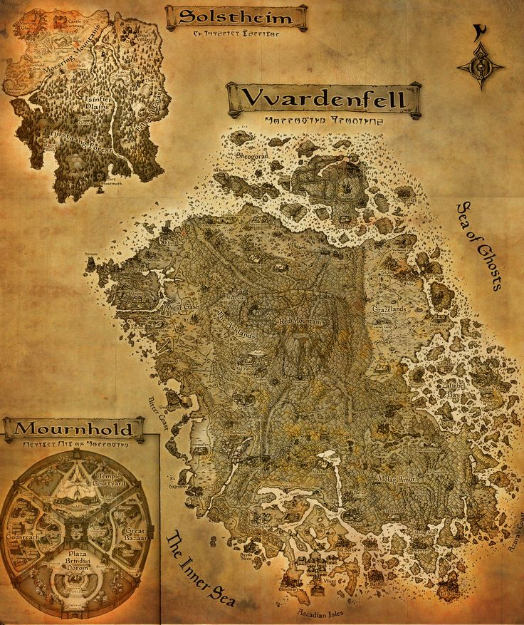 The Elder Scrolls III: Morrowind A3 map by CrashElements.deviantart.com on @deviantART