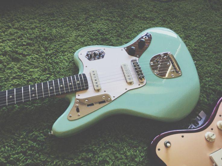 Squier Jaguar by Fender Surf Green Offset Guitar