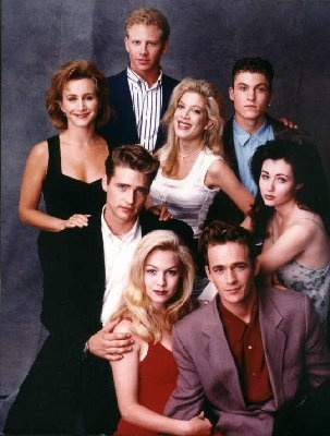90210....watched it...used to depress me because my high was NOTHING AT ALL like mine...sigh..