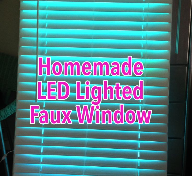 Faux led window small windows faux window and basements Fake window for basement