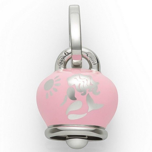 Ciondolo Chantecler Capri a forma di campanella, laccata di rosa con sirena. Un charm perfetto per l'estate! #chantecler #chanteclerjewelry #chanteclercapri #charm #charms #campana #campanella #campanelle #sirena #rosa #mermeid #pink #estate #summer #mare #gioielli #jewels #bell #bells