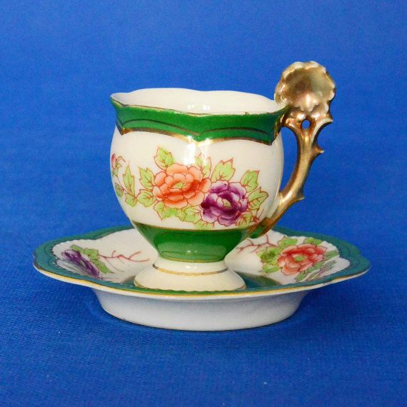 Vintage Wales China Demitasse Cup and Saucer
