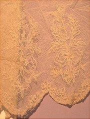 Embroidered lace sold in LACE on website http://barbspencerdolls.com