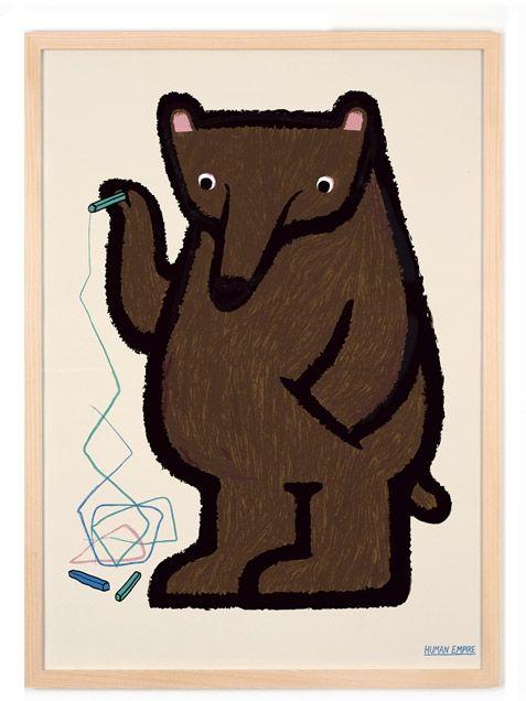 Lasst diesen Bären bei Euch einziehen. Er ist sehr lieb, kuschelig und malt für seinen Leben gern. Eure Kinder werden ihn lieben! •Design: Human Empire • Maße: 42x29,7 cm (DINA3) • Offsetdruck • Material: ungestrichenes...