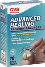 CVS Advanced Healing Bandages - these are my new favorite!! seriously. SERIOUSLY. They are the most impressive band-aid ever. comfortable, durable, flexible, and inconspicuous ;-)