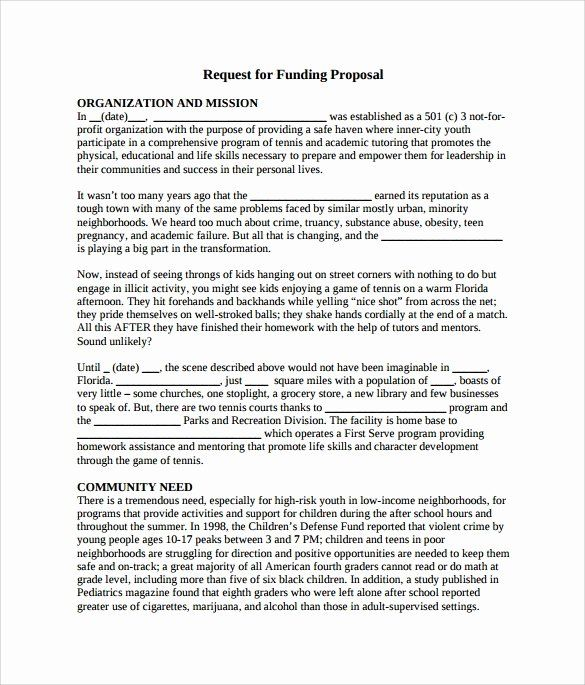 Proposal For Funding Template Fresh 7 Funding Proposal Samples Proposal Research Proposal Example Proposal Templates